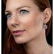 Rose Quartz and Diamond Stellato Earrings 0.28ct 9K White Gold - image 2