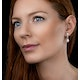 Stellato Collection Pearl and Diamond Earrings in 9K White Gold - image 2
