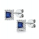 Stellato Collection Sapphire and Diamond Earrings in 9K White Gold - image 3