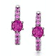 Rhodalite and Pink Sapphire Stellato Earrings in 9K White Gold - image 1