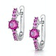 Rhodalite and Pink Sapphire Stellato Earrings in 9K White Gold - image 3