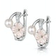 5mm Pearl Shell with 0.10ct Diamond Stellato Earrings 9K White Gold - image 2