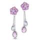 Amethyst Blue Topaz and Diamond Stellato Earrings in 9K White Gold - image 1
