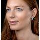 8mm Amazonite and Diamond Stellato Earrings in 9K White Gold - image 2