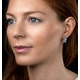 Blue Topaz Sapphire and Diamond Stellato Earrings in 9K White Gold - image 2