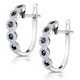0.43ct Sapphire and Diamond Stellato Earrings in 9K White Gold - image 3