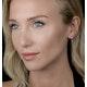 0.64ct Amethyst and Diamond Stellato Heart Earrings in 9K White Gold - image 2