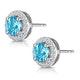 Swiss Blue Topaz and Diamond Halo Stellato Earrings in 9K White Gold - image 3