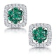 0.23ct Emerald and Diamond Stellato Earrings in 9K White Gold - image 1