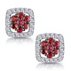 0.23ct Ruby and Diamond Stellato Earrings in 9K White Gold - image 1