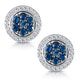 0.35ct Sapphire and Diamond Stellato Earrings in 9K White Gold - image 1