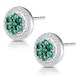 0.30ct Emerald and Diamond Stellato Earrings in 9K White Gold - image 3
