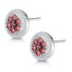0.33ct Ruby and Diamond Stellato Earrings in 9K White Gold - image 3