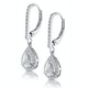 Masami Diamond Pear Halo Earrings 0.20ct Pave Set in 9K White Gold - image 3