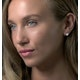 Diamond Heart Solitaire Stellato Earrings in 9K White Gold - image 3