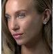 Emerald and Diamond Stellato Heart Earrings in 9K White Gold - image 3