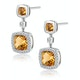 Stellato 2.30ct Citrine and Pave Diamond Earrings in 9K White Gold - image 2