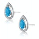 Stellato 1.10ct Swiss Blue Topaz and Diamond Earrings in 9K White Gold - image 2
