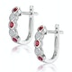 Stellato Ruby and Diamond Eternity Earrings in 9K White Gold - image 2