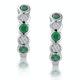 Stellato Emerald and Diamond Eternity Earrings in 9K White Gold - image 1