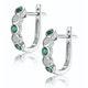 Stellato Emerald and Diamond Eternity Earrings in 9K White Gold - image 2