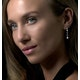 Stellato Collection Diamond Drop Earrings in 9K White Gold - image 3