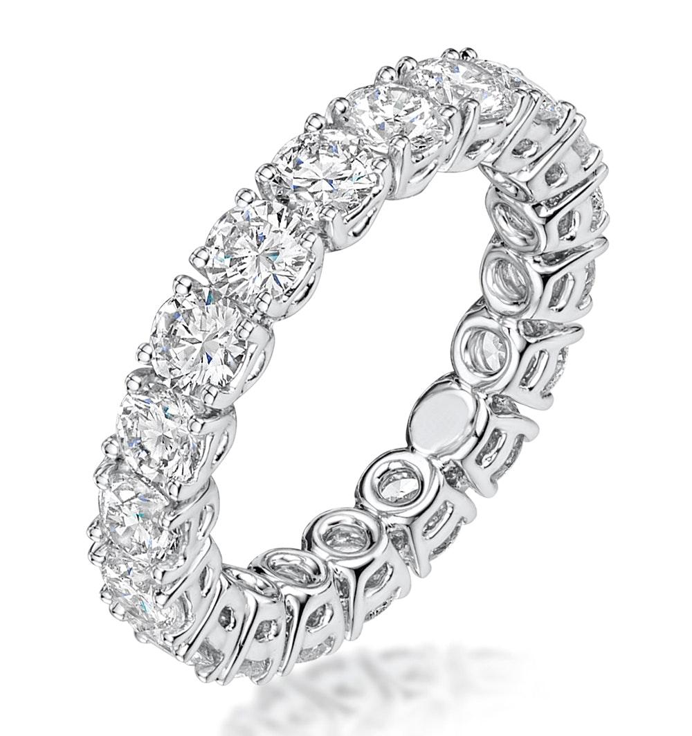 Stella Diamond Eternity Ring Round Cut 2.3ct VVs Platinum Size H-I