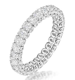 SIENNA DIAMOND ETERNITY RING OVAL CUT 1.7CT VVS PLATINUM SIZE H-I