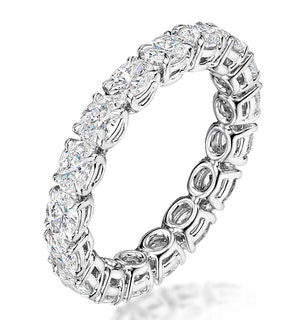 SERENA DIAMOND ETERNITY RING OVAL CUT 1.98CT VVS PLATINUM SIZE H-I
