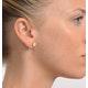 Opal 7 x 5mm 18K Yellow Gold Earrings - image 3