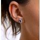Tanzanite 6 x 4mm And Diamond 18K Yellow Gold Earrings - image 4