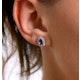 Tanzanite 6 x 4mm And Diamond 18K Yellow Gold Earrings - image 2