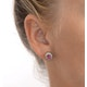 Pink Sapphire 6 X 4mm and Diamond 18K Yellow Gold Earrings Feg28-Ru - image 2