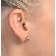 Pink Sapphire 6 X 4mm and Diamond 18K Yellow Gold Earrings Feg28-Ru - image 3