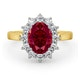Ruby 2.40ct And Diamond 1.00ct 18K Gold Ring - image 2