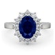 Sapphire 2.30ct And Diamond 1.00ct 18K White Gold Ring - image 2