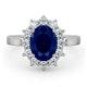 Platinum Sapphire 2.30ct And Diamond 1.00ct Ring - image 2
