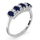 Sapphire 5 x 3mm And Diamond 9K White Gold Ring  A4452 - image 3