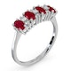 Ruby 1.12ct And Diamond 9K White Gold Ring - image 3
