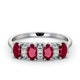 Ruby 1.12ct And Diamond 9K White Gold Ring - image 2