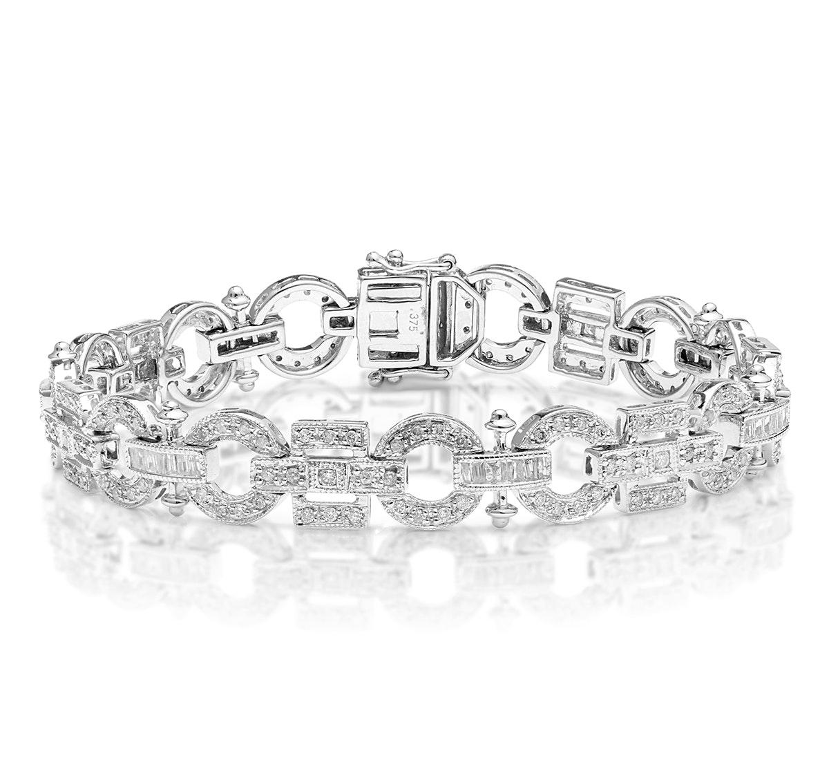 Everyday Bracelet 0.95CT Diamond 9K White Gold