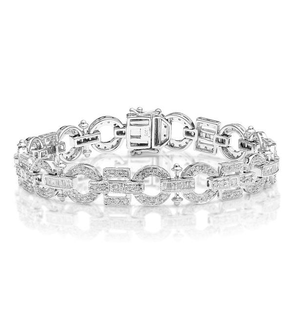 Everyday Bracelet 0.95CT Diamond 9K White Gold - image 1