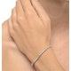 Diamond Tennis Bracelet Rubover Style 1.00ct 9K White Gold - image 2