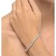 Diamond Tennis Bracelet Rubover Style 5.00ct 9K White Gold - image 2