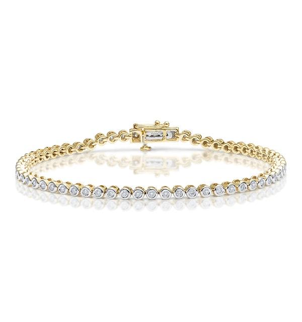 Diamond Tennis Bracelet 1.00ct 9K Yellow Gold - image 1