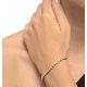 Diamond Tennis Bracelet Rubover Style 4.00ct 9K Yellow Gold - image 2