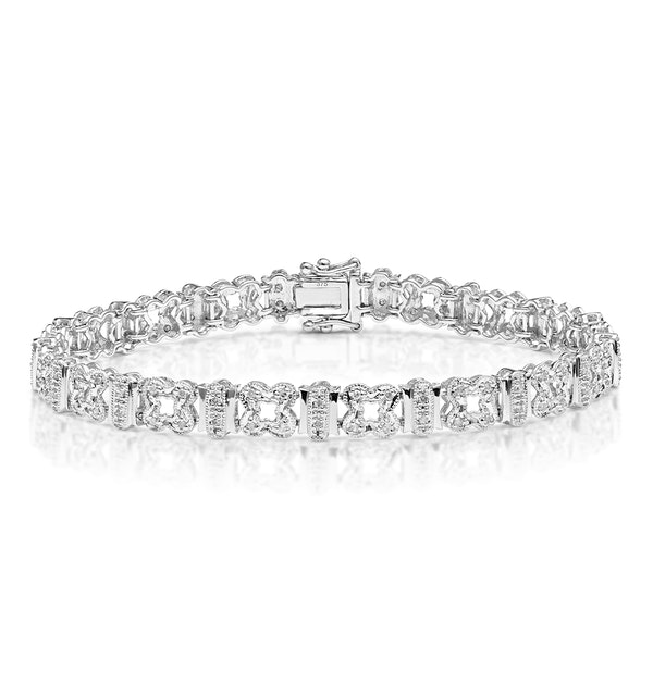 Everyday Bracelet 0.50CT Diamond 9K White Gold - image 1