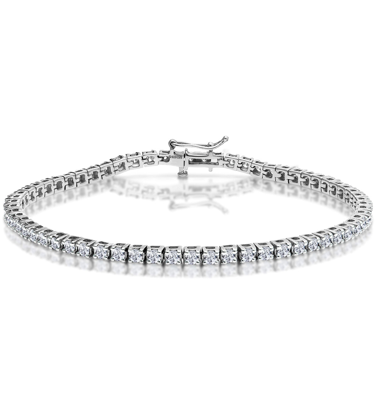 3ct Diamond Tennis Bracelet Claw Set in 9K White Gold