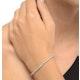 4ct Diamond Tennis Bracelet Claw Set in 9K Yellow Gold - image 2