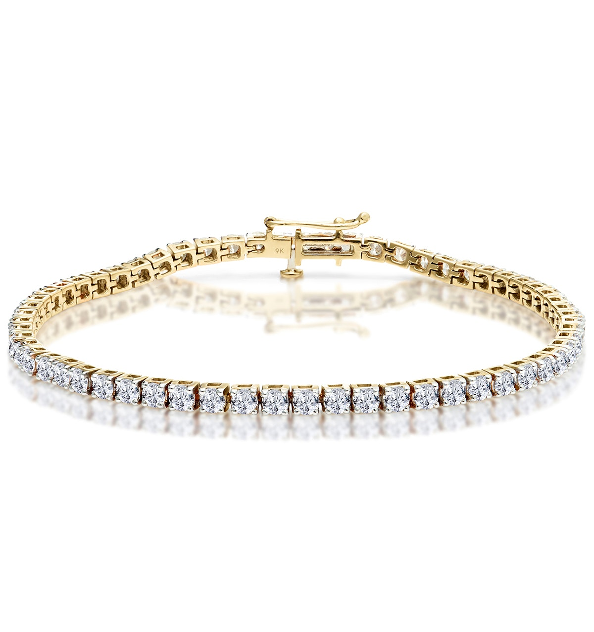 5ct Diamond Tennis Bracelet Claw Set in 9K Yellow Gold